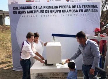 Gramosa arranca construcción de nueva terminal en Chiapas